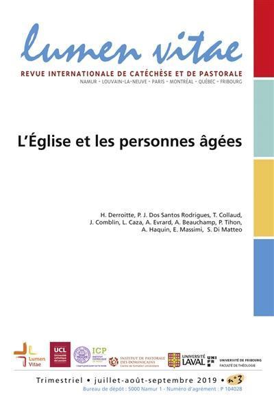 LUMEN VITAE 20193 L'EGLISE ET LES PERSONNES AGEES