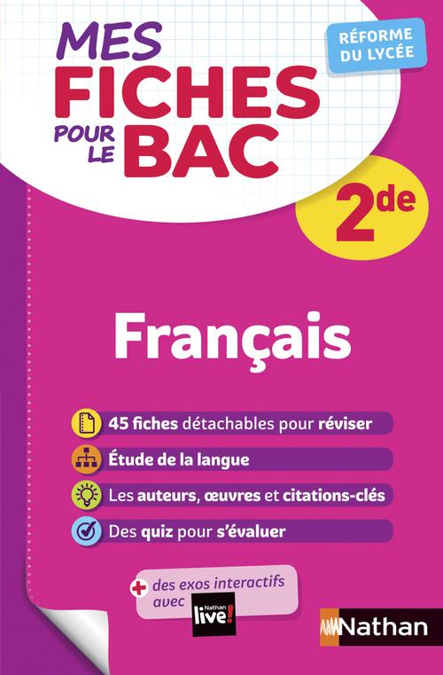 MES FICHES ABC DU BAC ; français ; 2de (édition 2020)