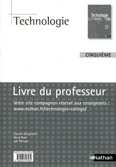 Technologie ; 5eme; Livre Du Professeur (Edition 2009)