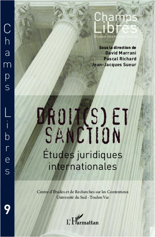 Droit(s) et sanction ; études juridiques internationales