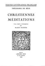 Chrestiennes méditations