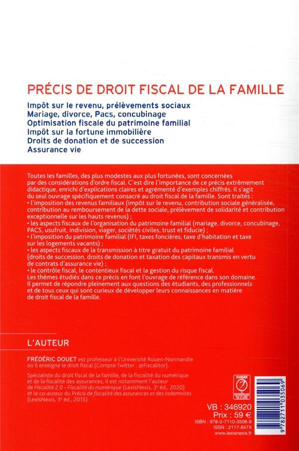 Précis de droit fiscal de la famille (10e édition)