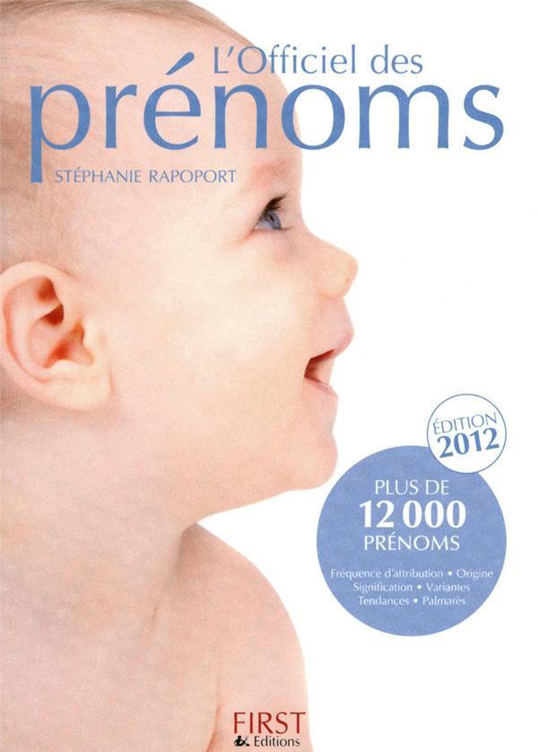 Officiel des pénoms 2012