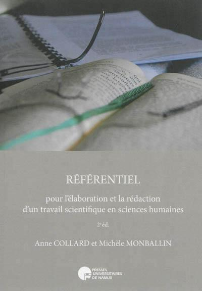 Referentiel pour l elaboration et la redaction d un travail scientifique en sciences humaines