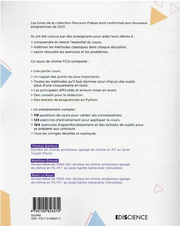 chimie PCSI (2e édition)