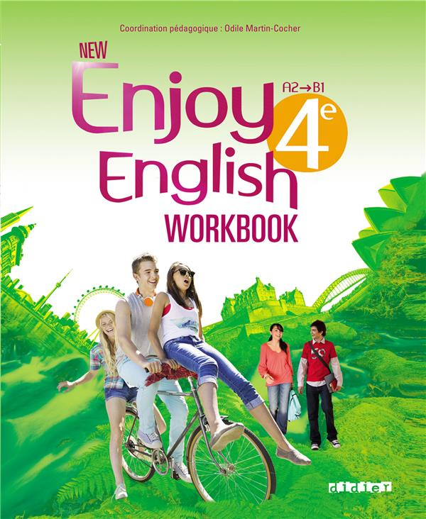 New Enjoy English; Anglais ; 4eme ; A2/B1 ; Workbook (Edition 2014)