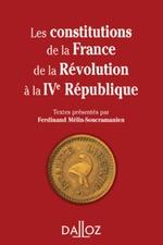 Vente Livre Numérique : Les constitutions de la France de la Révolution à la IVe République  - Ferdinand Mélin-Soucramanien