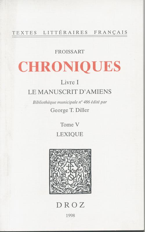 Chroniques  - Jean Froissart