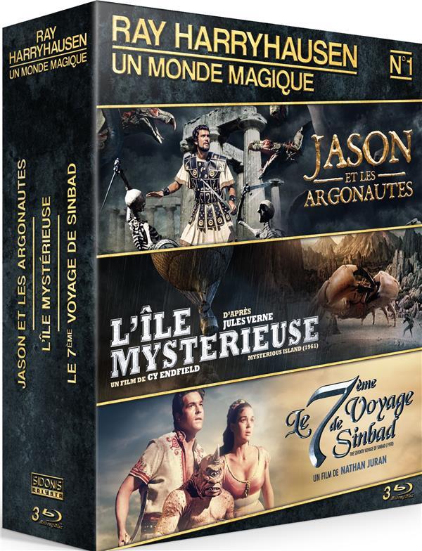 Ray Harryhausen - Coffret n° 1 : Jason et les Argonautes + L'Île Mystérieuse + Le 7ème Voyage de Sinbad