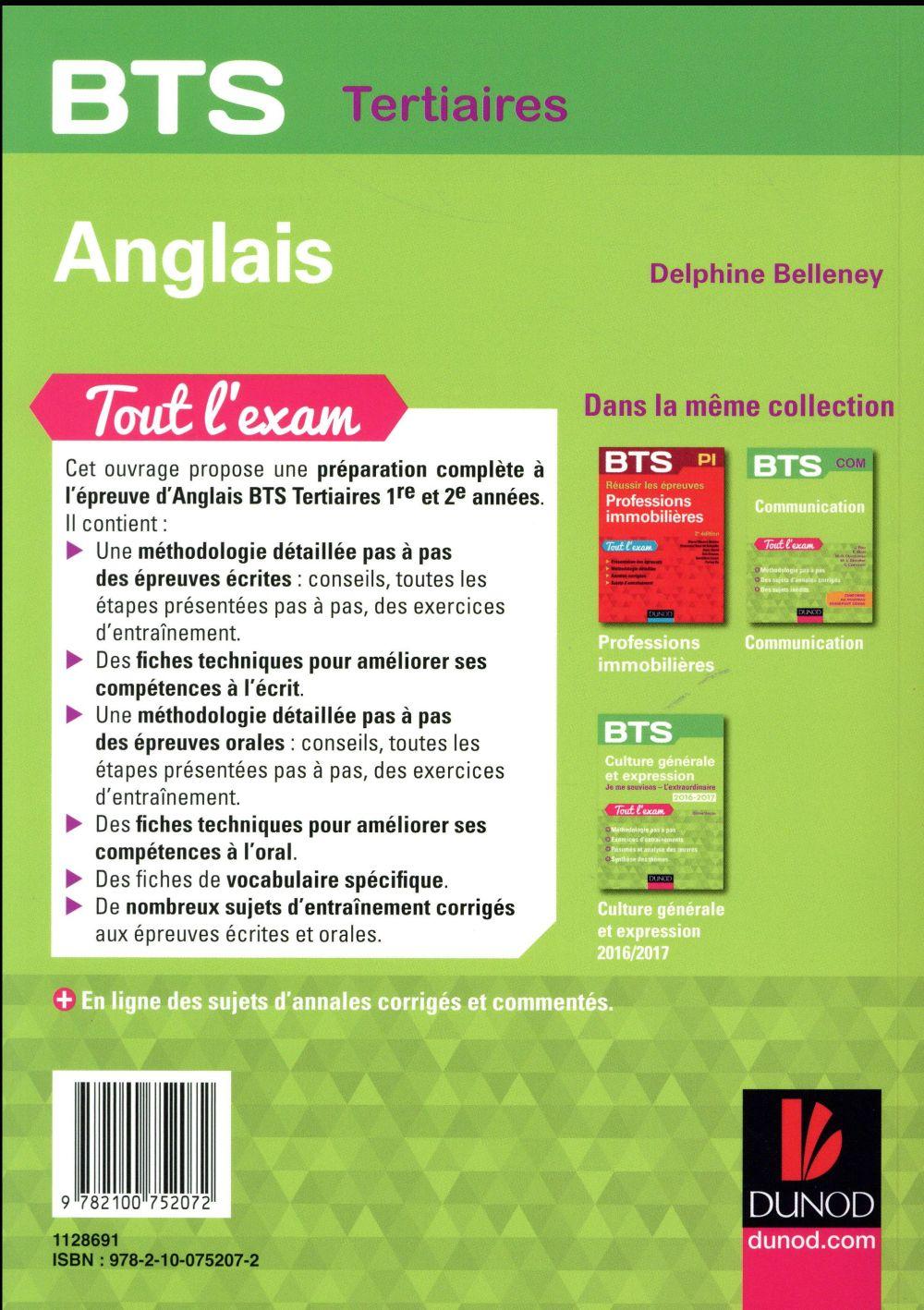 BTS ; anglais ; tout l'exam
