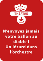 Vente Livre Numérique : N'envoyez jamais votre ballon au diable ! ; Un lézard dans l'orchestre (6-8 ans)  - Brigitte Saussard