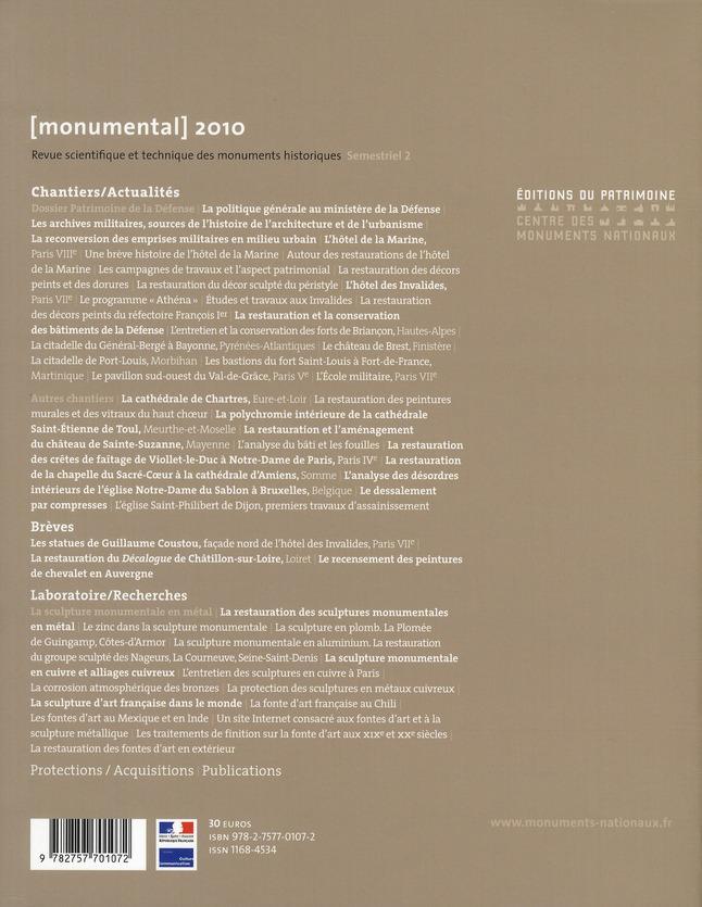 MONUMENTAL n.2010/2 ; chantiers/actualités