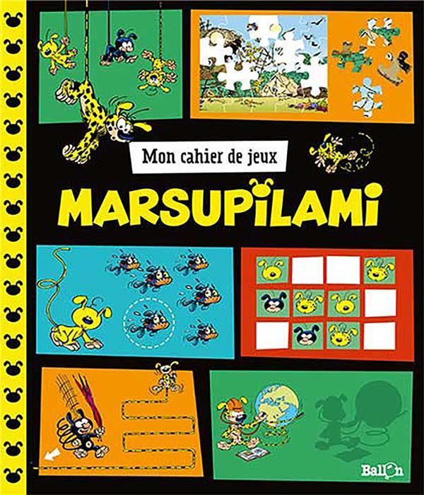 mon cahier de jeux ; Marsupilami