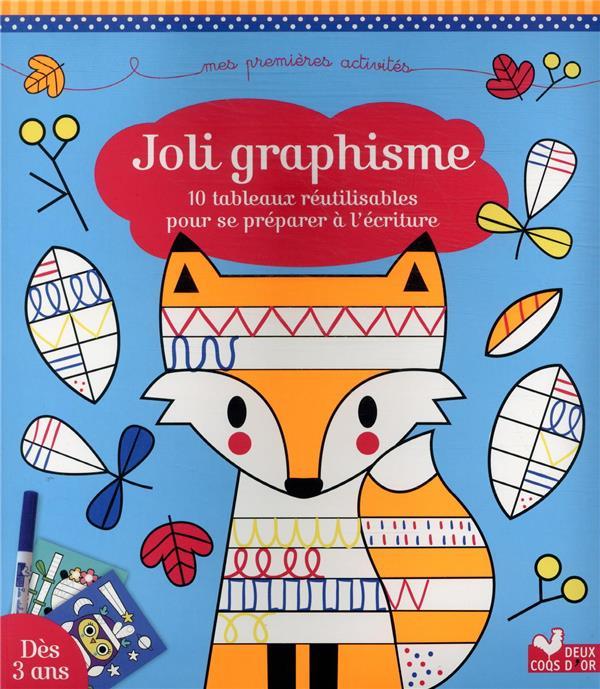 joli graphisme ; 10 tableaux réutilisables pour se préparer à l'écriture