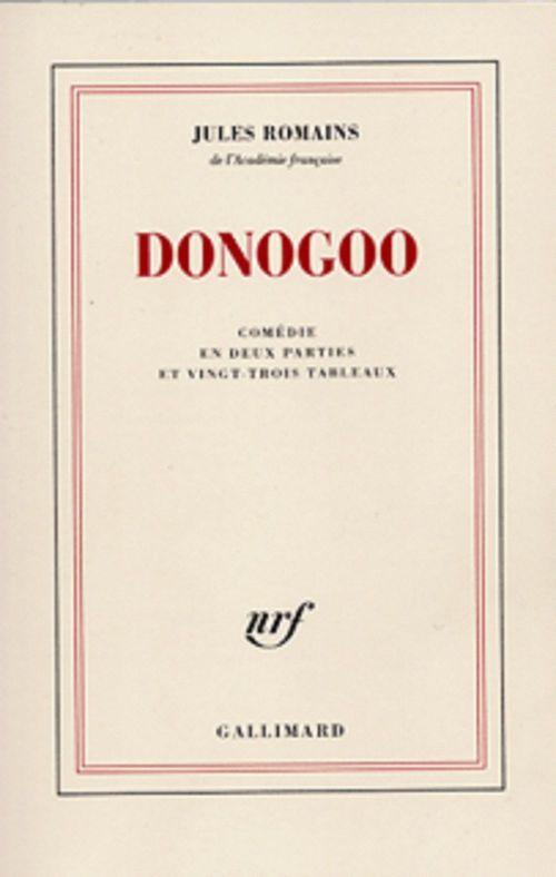 Donogoo - comedie en deux parties et vingt-trois tableaux