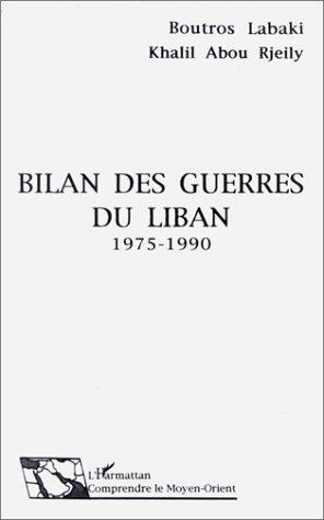 Bilan des guerres du Liban, 1975-1990