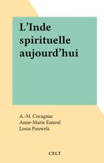 Vente EBooks : L'Inde spirituelle aujourd'hui  - A.-M. Cocagnac