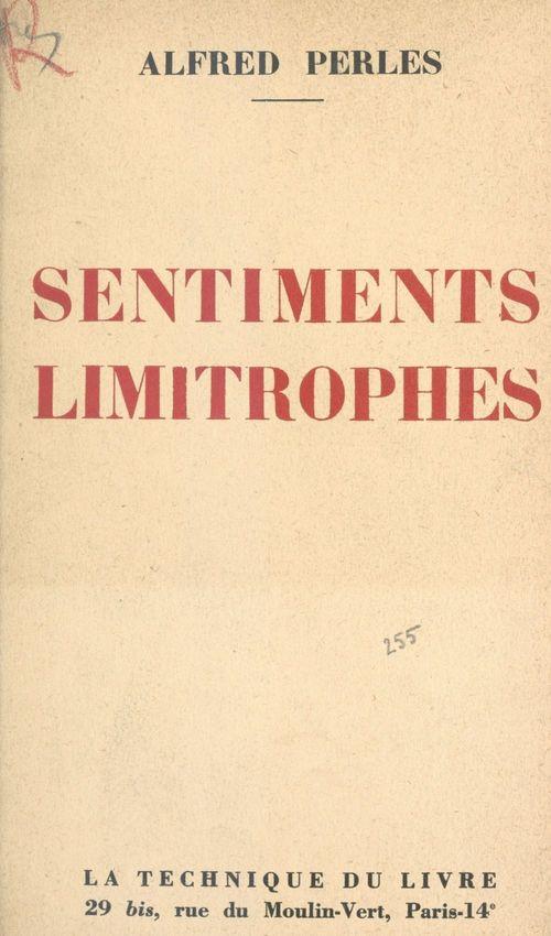 Sentiments limitrophes