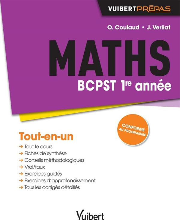 Maths ; BCPST 1re année ; tout-en-un