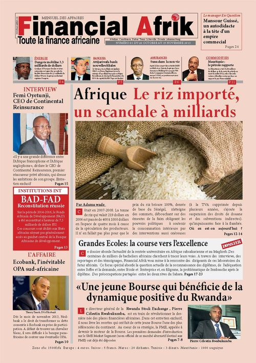 Financial Afrik n°1 novembre 2013