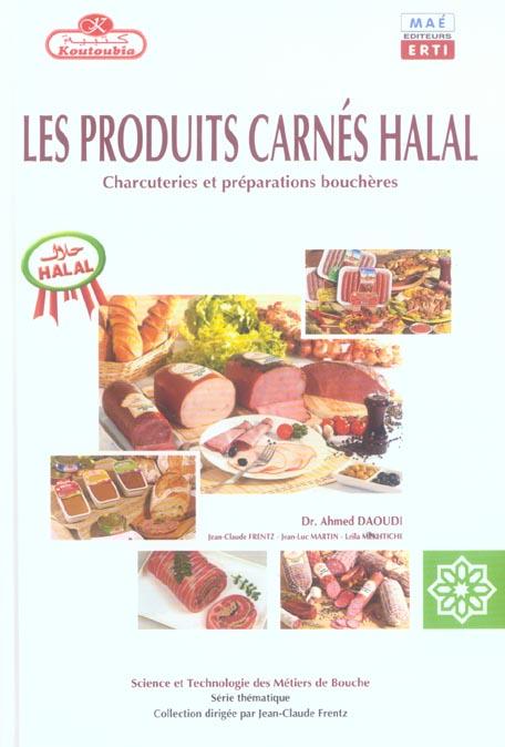 Les produits carnes halal - charcuteries et preparations boucheres