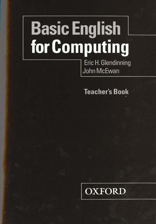 Basic english for computing ; teacher's book