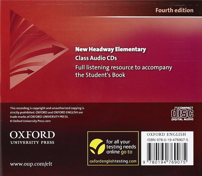 New headway, 4th edition elementary: class audio cds (3)