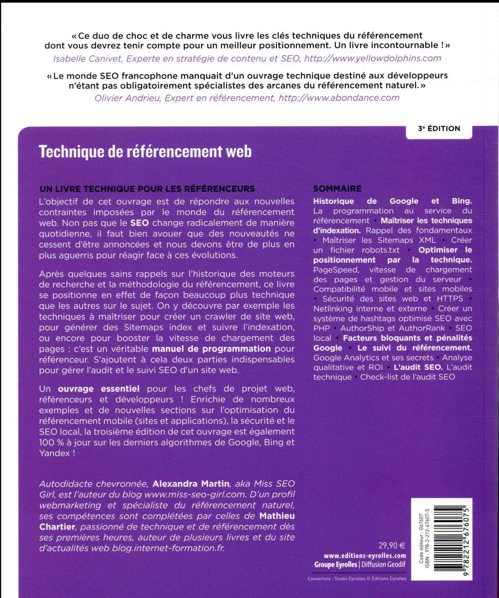 techniques de référencement web (3e édition)