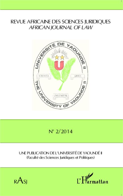REVUE AFRICAINE DES SCIENCES JURIDIQUES N.2014/2