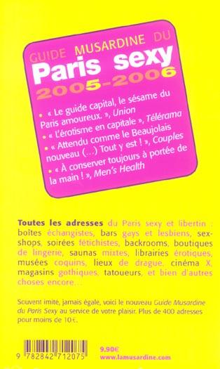Guide musardine du paris sexy (édition 2005/2006)