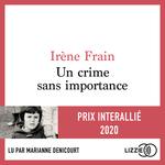 Vente AudioBook : Un crime sans importance  - Irène Frain