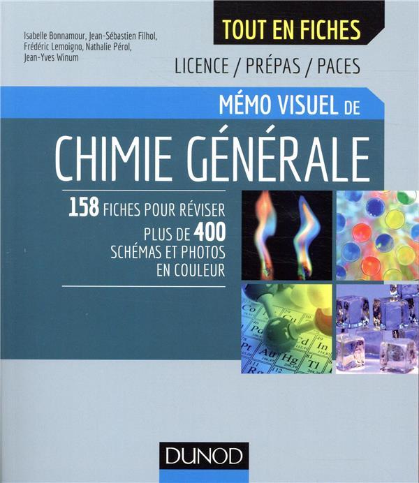 Mémo visuel de chimie générale ; l'essentiel en fiches