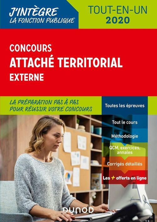 Concours attaché territorial externe ; tout-en-un (édition 2020)