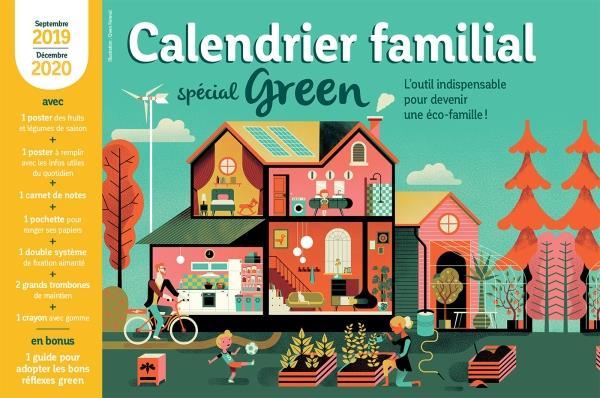 Calendrier familial spécial green (édition 2019/2020)