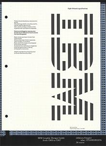 IBM ; graphic design guide from 1969 to 1987