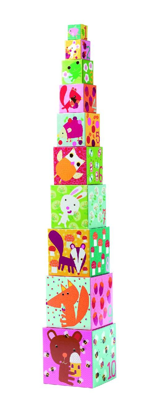 10 cubes forêt