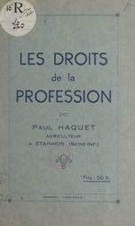 Vente EBooks : Les droits de la profession  - Paul Haquet