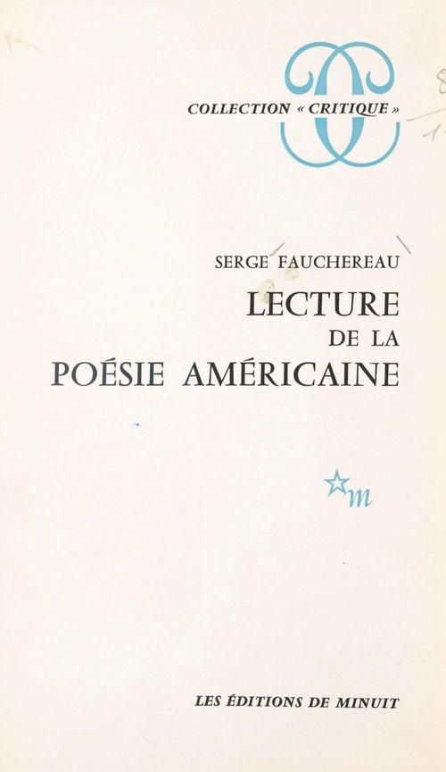 Lecture de la poésie américaine