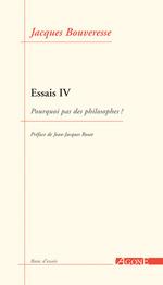 Vente EBooks : Essais IV  - Jacques BOUVERESSE
