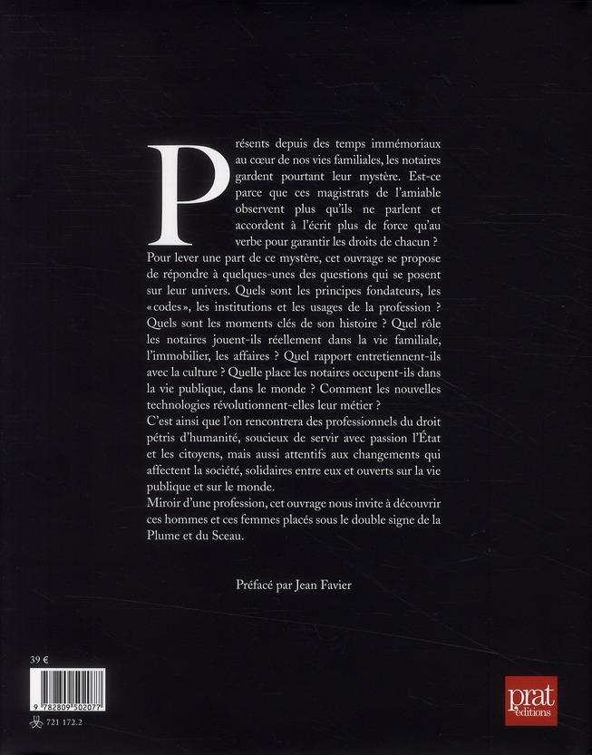 notaires ; la plume et le sceau
