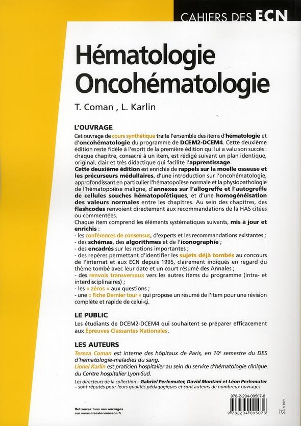Hématologie ; onco-hématologie (2e édition)