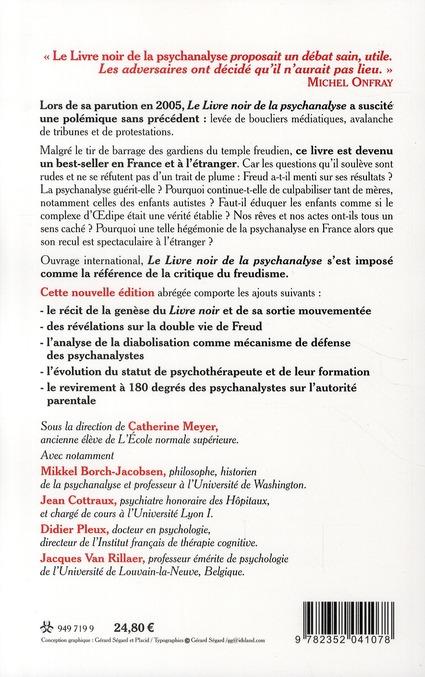 Le Livre Noir De La Psychanalyse Vivre Penser Et Aller Mieux Sans Freud Catherine Meyer Collectif Arenes Grand Format La Librerit Carouge