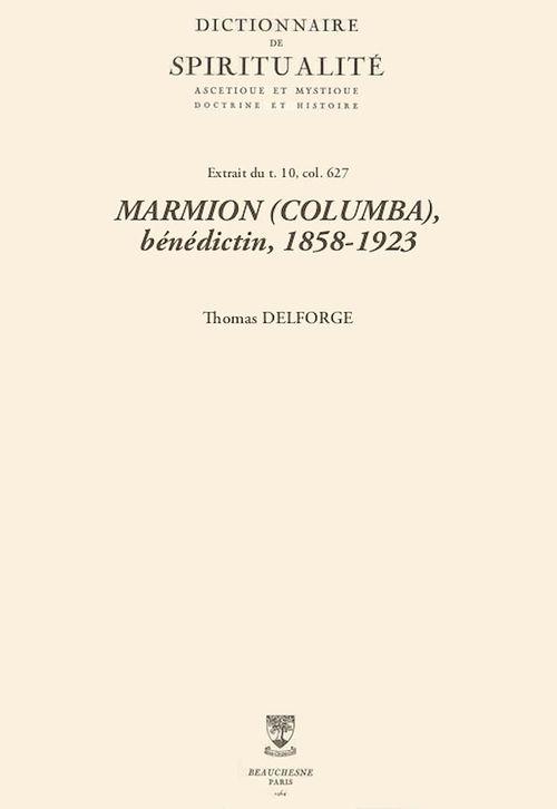 MARMION (COLUMBA), bénédictin, 1858-1923