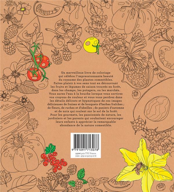 paradis comestible ; apprendre les saisons des fruits et legumes en coloriant
