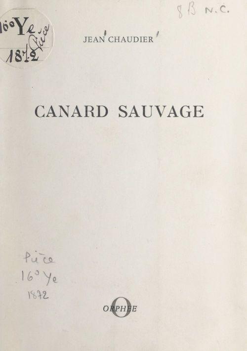 Canard sauvage