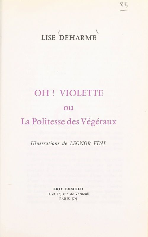 Oh ! Violette