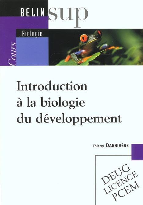 Introduction à la biologie du développement