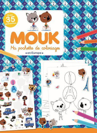 Ma pochette de coloriages ; Mouk en Europe