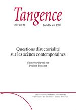 Vente Livre Numérique : Tangence. No. 121, 2019  - Bérénice Hamidi-Kim - Antoine Doré - Catherine Brun - Hervé, Guay, - Élisabeth Le Corre - Benoît Barut - Séverine Ruset - Maude