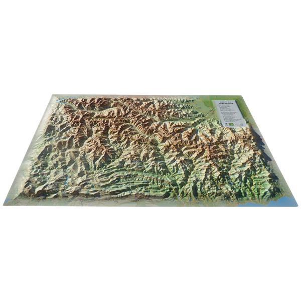 Carte en relief du massif du Mercantour